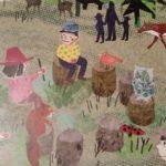 Kinderbuch Nils zeigt dir den Waldkindergarten - Illustration Morgenkreis