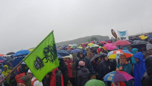 Demonstration gegen die Abrodung des Hambacher Forstes