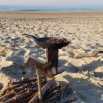 VIRE stove Rocket Stove mit Maronen