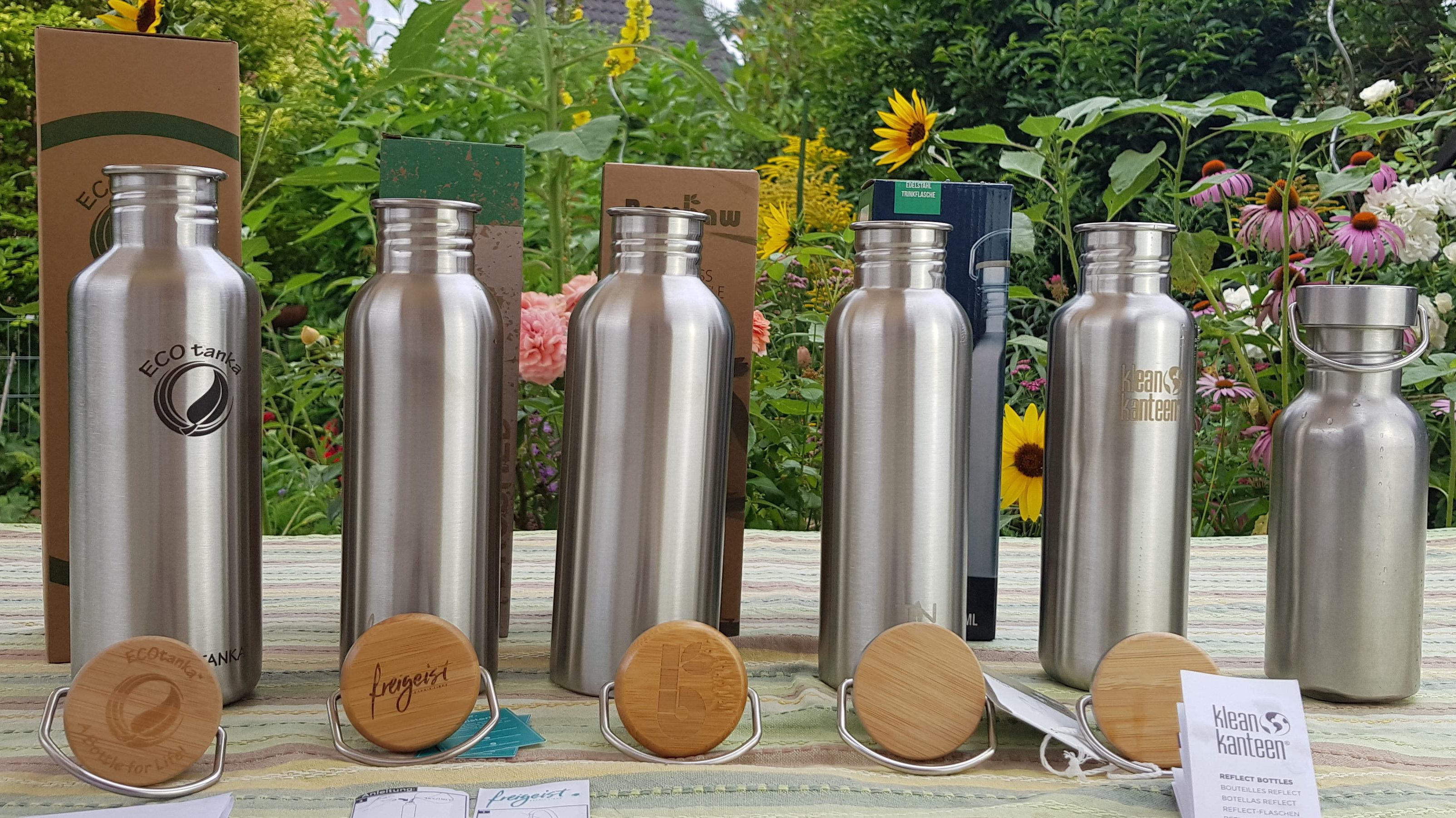 Bambaw Trinkflasche 1l Edelstahl Langlebige Wasserflasche 1l| Wiederverwendbare /öko Wasserflasche F/ür Camping /& Lagerfeuer Sportflasche auslaufsicher Trinkflasche Metall ohne Plastik